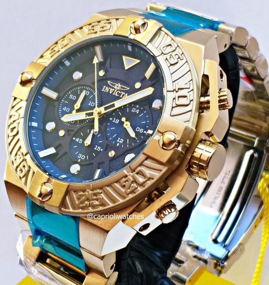 Relógio Invicta Pro Diver 50mm Top Lançamento 25829 Gold 18k