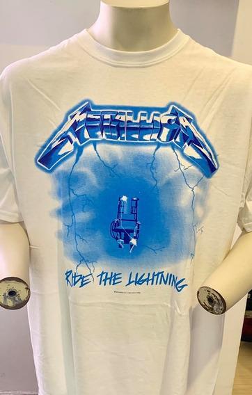 Metallica Ride The Lightning (white) T-shirt Xl Merch Offic