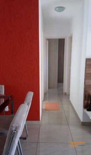 Apartamento Com 2 Dormitórios À Venda, 56 M² Por R$ 370.000,00 - Vila Caminho Do Mar - São Bernardo Do Campo/sp - Ap0039