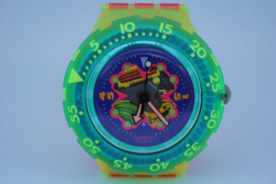 Swatch Scuba Bay Breeze Sdj101 1993
