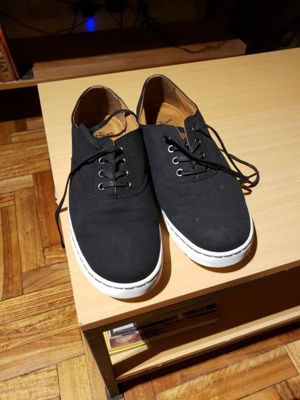 Zapatillas De Lona Negras Dr. Martens Lakewood