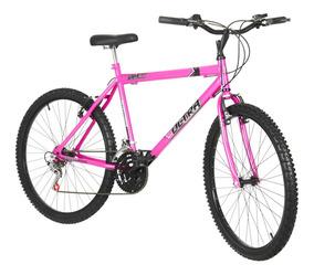 Bicicleta Aro 26 V Brake 18 Marchas Pro Tork Ultra Rosa