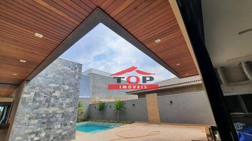 Imagem 1 de 13 de Casa Com 3 Suítes Recém Construída À Venda, 255 M² Por R$ 1.800.000 - Villa Dumont Ii - (contato (14) 99769-9789 - Ca1053