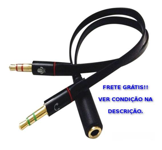 Cabo Adaptador De Áudio P2 Macho X P3 Fêmea 3.5mm 2-p2x1-p3