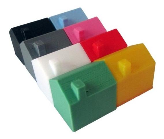 Mini Casinha Monopoly Tabuleiro Maquete Cores Kit C/ 30 Casa
