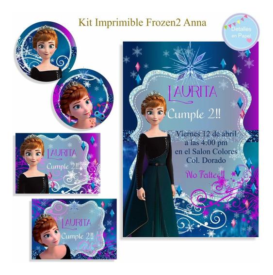 Kit Imprimible Frozen2 Anna