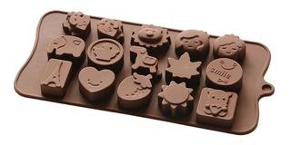 Molde Silicon Smile Elefante León Fresa - Chocolate Resina