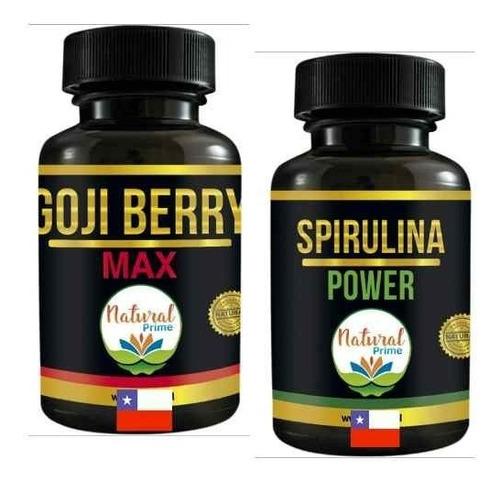 Pastillas Spirulina  + Goji Berry Pack  Delux Espirulina