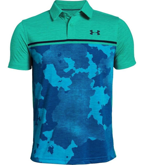 Playera Tipo Polo De Niño Para Golf Under Armour/threadborne
