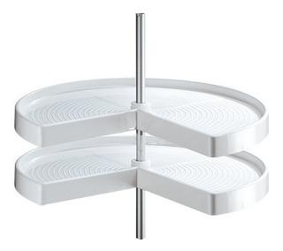 Esquinero Giratorio/ Sistema Lazy 18 Pg Blanco Cerrajes