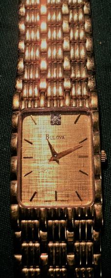 Relógio Bulova; Banhado A Ouro 14k Feminino T5
