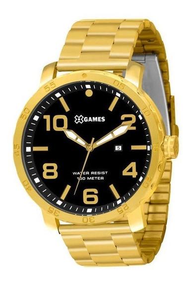 Relógio X Games Dourado Xmgs1004 P2kx Estiloso E Barato