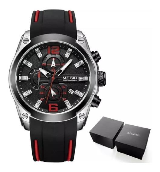 Relógio Megir 2063 Masculino Original Com Caixa Para Present