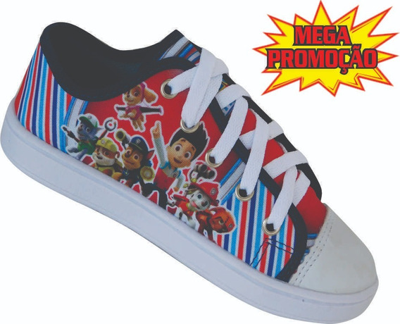Sapato Infantil Tênis Masculino Patrulha Canina Promoção