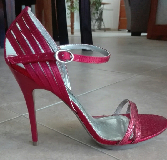 Sandalia Stiletto N°37 Via Uno Naturezza