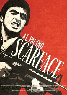 Poster Pelicula Cine Scarface Cara Cortada Al Pacino