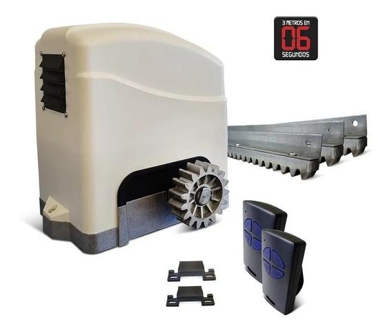 Kit Motor Portón Trino Speed Turbo Pro Cremallera Metálica