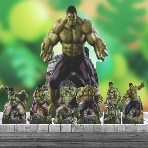 Imagem 1 de 4 de Kit 7 Hulk Heroi Totem Display Centro Mesa Chão 88cm