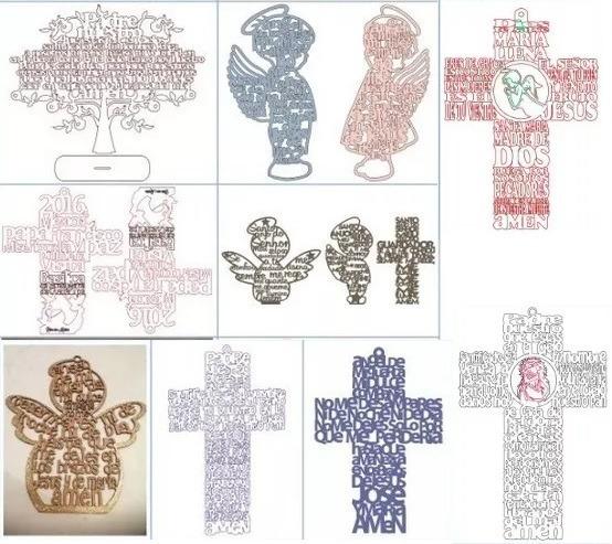 Mas De 500 Vectores Religiosos Corte Laser Grabados Dxf-mdf