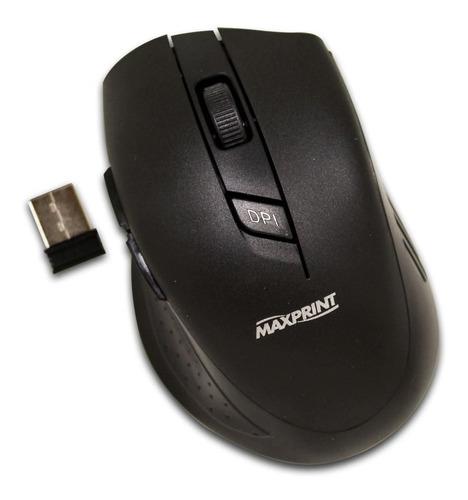 Mouse Óptico Maxprint Sem Fio 5 Botões - 601225-4