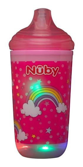 Copo Infantil Bebês Pisca Pisca Térmico Bico Rigido - Nûby