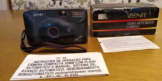 Câmera Analógica 35mm Zenit Ez-48 C/ Caixa E Manuais