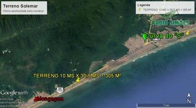 Terreno Plano, Com Asfalto, Documentação Em Dia, No Solemar Em Praia Grande - Codigo: Te0004 - Te0004