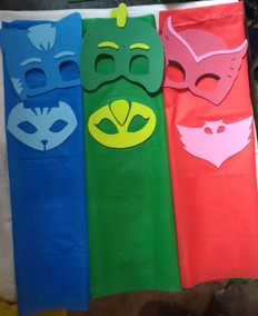 Kit 60 Máscaras + 60 Capas Pj/heróis Em Eva, Festas