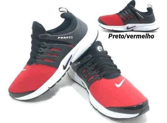 Tenis New Presto Importado Preto E Vermelho