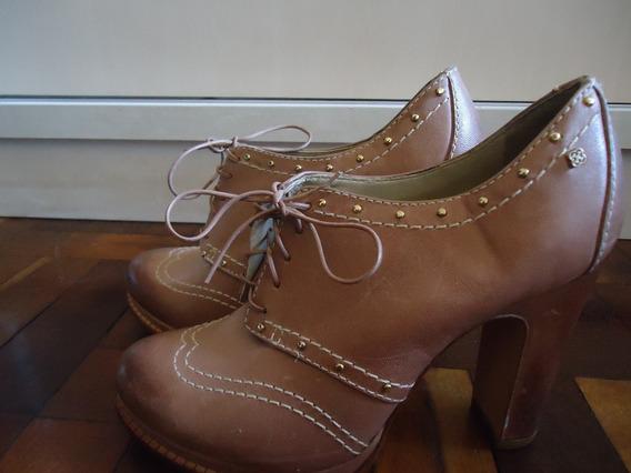 Sapato Salto Grosso Nude Rosé Capodarte 34