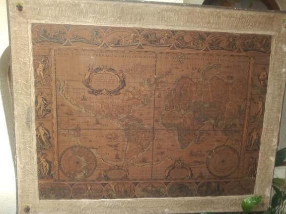 Cuadro Muy Antiguo Mapa.modelo Colonial