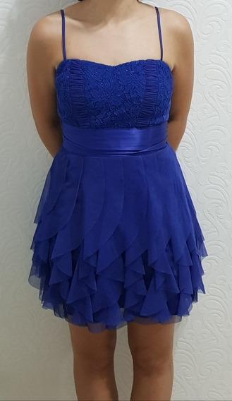 Vestido Festa Azul Royal Veste 36 A 38