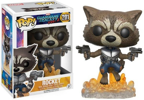 Muñeco Funko Pop Rocket Guardianes De La Galaxia