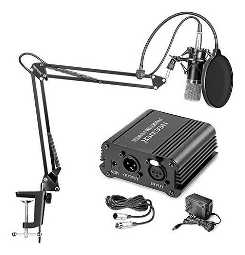 Micrófono Profesional Neewer Nw-700 + Kit + Phantom Power