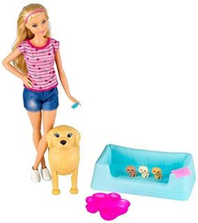 Barbie Newborn Pups Doll - Mascotas Playset, B