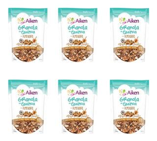 Aiken Granola De Quinoa Con Almendras Y Pasas X 6