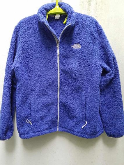 Jaqueta/casaco North Face Fleece Feminino Tamanho Xl/tg Azul