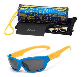 Oculos Ogrife Solar Infantil Og 977-i Flexível Polarizado