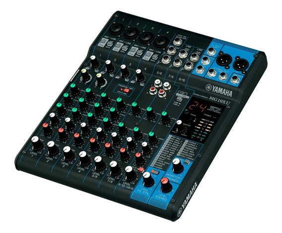 Mesa De Som 10 Ch C/ Usb/fx/ph/1 Aux Mg 10 X U Yamaha