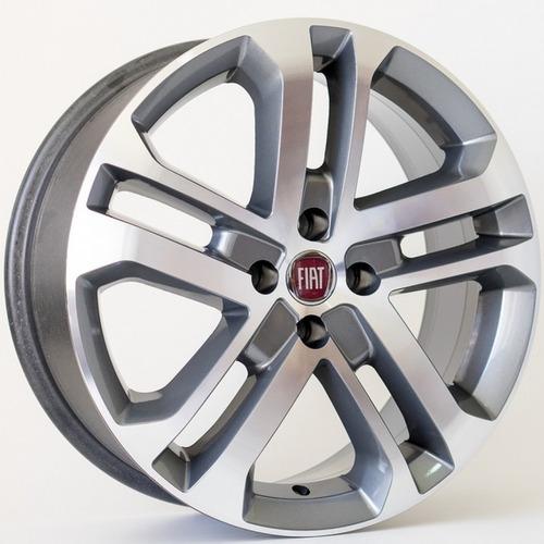 Imagem 1 de 2 de 4 Rodas Fiat Toro Aro 14 R73 Uno Siena Palio Strada + Bicos
