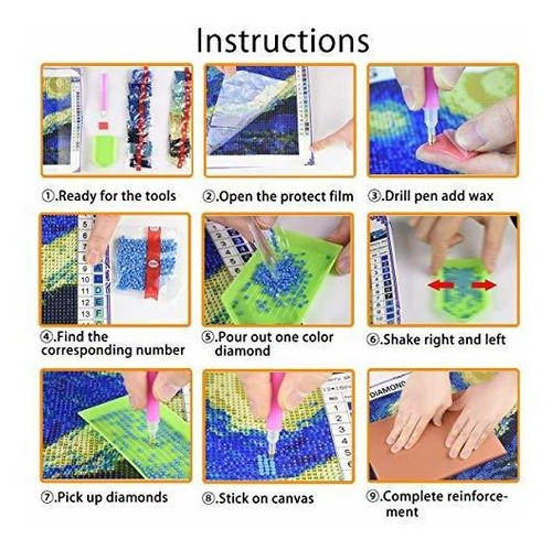 5d Diamond Painting Full Drill Diy By Number Kits
