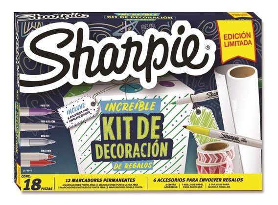 Kit Marcadores Sharpie Permanente Decoración De Regalo X18