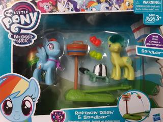 Pack My Little Pony. Rainbow Dash, Sandbar, Fluttershy, Silv