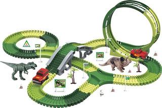 Pista Dinossauro Rex Maluca Magica Track Com 210 Pç 1 Carro