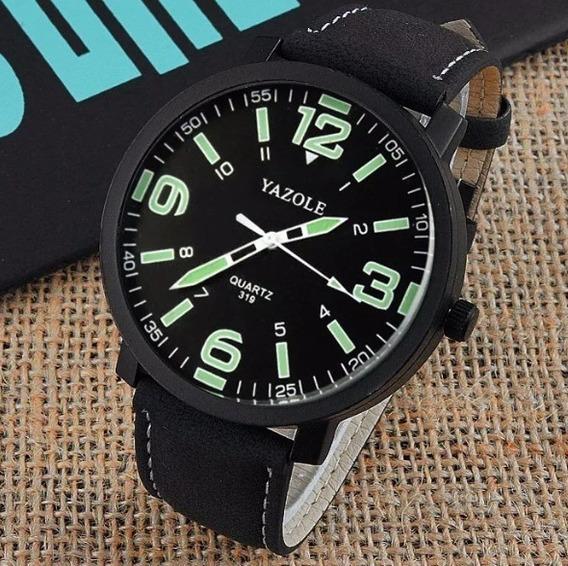 Relógio Em Couro Original Yazole