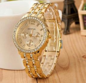 Relógio Feminino Dourado, Luxo.