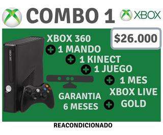 Xbox 360 Combo 1,2 0 3+ Mando Adicional+ Garantía