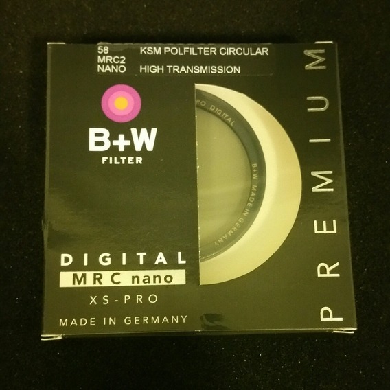 Filtro 58mm B+w Ksm C Polarizante Mrc2 Nano Ht