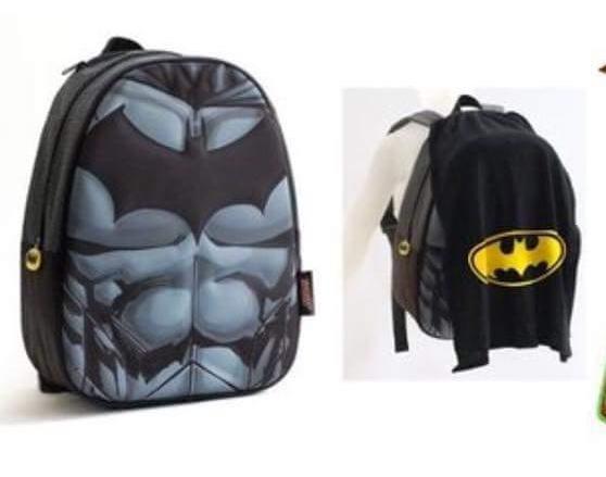 Mochila De Batman Con Capa 34 Cm Licencia Original