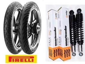 # Amortecedor Titan150 + Pneu 90/90-18 - 2.75-18 - Pirelli